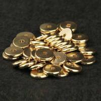 4/5/6/7/8/10mm Gold Plated Solid Brass Metal Flat Rondelle Loose Spacer Beads