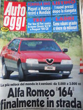 Auto OGGI n°41 1987 ALfa Romeo 164 finalmente in strada  [Q202]