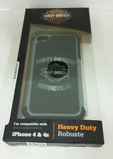 HARLEY DAVIDSON ® Heavy Duty Silicone Rugged iPhone 4/4s Shell Black