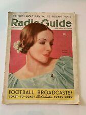 October 24 1936 Radio Guide Magazine Helen Hayes