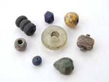 Rare Ancient Antique Artifact Lot of 8 Scythians Primitive Beads Stone Glass