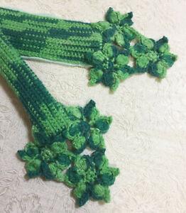 "NEW 3 Colors Crochet Handmade Bag Handle Cover Flowers 10"" LV SPEEDY ALMA Japan"