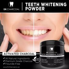 Dr Charcoal Organic Activated Charcoal Teeth Whitening Powder Mint *Xmas Sale*