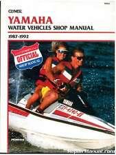 1987-1992 Yamaha Waverunner Wavejammer Personal Watercraft Repair Manual Clym.