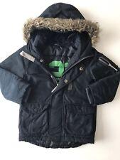 Next Boys Warm Winter Coat Jacket Faux Fur Hoodie Age 4 Yrs