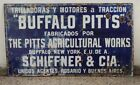 OLD BUFFALO PITTS AGRICULTURAL WORKS ENAMEL PORCELAIN SIGN. EARLY 1900'S.