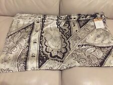 NEW POTTERY BARN DEMI PAISLEY Fall Silk Blend Pillow Cover DARK BROWN ESPRESSO