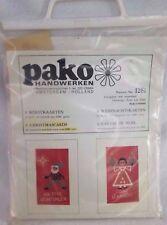 Pako Handwerken 6 Christmas Cards Kit 1281 Cross Stitch Yarn Fabric DMC Yarn VTG
