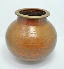 Antique Copper Water Storage Pot Matka Original Old Hand Crafted Fine Engraved