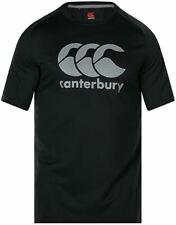 Canterbury Men's Vapodri Large Logo T-Shirt in Black with Raglan Sleeve - S