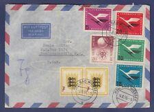 GERMANY #729, 731 & C61-C64 ON COVER (BAD WIESSEE, GERMANY - HENDERSONVILLE, NC)