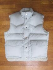 Men's Medium Campus Down Filled Zippered & Snap Up Vest Sharp!