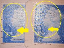 2 ERROR/VARIETY MACHIN GB BLUE 2ND SECURITY (2009 MTIL) STAMPS OVERLAY VARIES