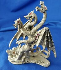Comstock Pewter 3 Headed Dragon☆#4115☆Missing Orb☆ Euc