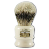 Simpsons Chubby 1 Super Badger Hair Shaving Brush in Cream