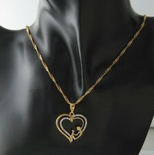 Gold Filled Plated Mum Mother Daughter Heart Pendant Necklace Chain Gift Box