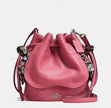 COACH PETAL BAG IN PEBBLE LEATHER F57543 Color-strawberry