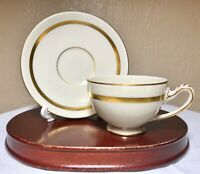"NHS Danmark Kongenslyngby Porcelain Demitasse Ivory Gold Teacup And Saucer 4.5"""