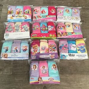 3 x Pairs Girls Character Knickers Kids Baby Disney Underwear Briefs Age 1 - 10