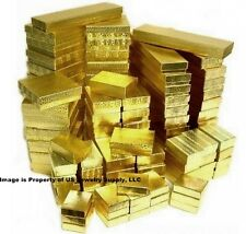 Wholesale 500 Assorted Size Mix Gold Cotton Fill Jewelry Packaging Gift Boxes