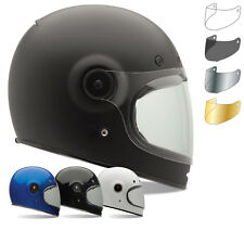 Bell Bullitt Motorcycle Helmet Flat Tinted Visor Black Tab Motorbike Vintage Lid