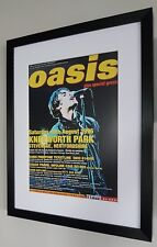 Oasis-Knebworth PRINT Luxury Framed-Certificate-NEW-RARE-Liam Gallagher