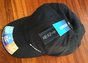 New MISSION Instant Cooling  Hat- Unisex Baseball Cap Cools When Wet-Black