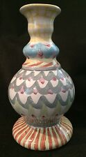 Mackenzie Childs Tall Pottery Candle Candlestick Holder - King Perry