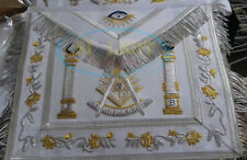 MASONIC REGALIA PAST MASTER APRON WHITE