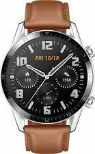 Huawei Watch GT 2 46mm Bluetooth-Smartwatch Fitnesstracker GPS - Braun