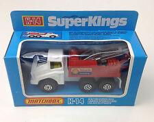 SUPER KINGS  MATCHBOX  K-14 DIE CAST SHELL RECOVERY TRUCK ENGLAND Blue Box