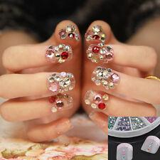 3600pcs 1.5mm Acrylic Rhinestone Glitter Decoration For UV Nail Art Tips Diamond