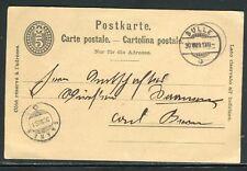 Suisse - Entier postal de Bulle en 1891 - ref D197