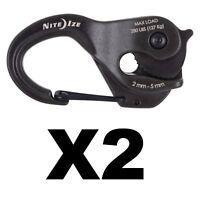Nite Ize CamJam XT Aluminum Rope Tightener w/ Rope Heavy-Duty Rugged (2-Pack)