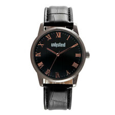 Kenneth Cole Unlisted Mens Black Leather Watch UL2008 With Gift Box