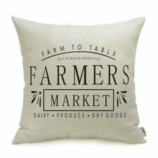 Farmhouse Pillow Covers with Farmers Market Quotes  for Farmhouse Decor