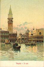 CARTOLINA vecchia 1900s - VENEZIA. COLORE SCENE molo