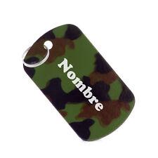 Placa identificativa perros militar chapa para perros mediana 28 x 50 mm
