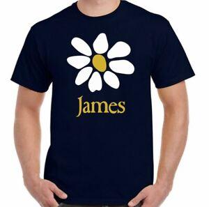 JAMES T-SHIRT Mens Band 80's 90's Alternative Rock Music Top Sit Down Laid