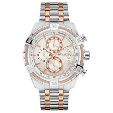 guess mens u0291g2 rose gold tone crystal accent chronograph watch new guess watch for men chronograph two tone rose gold silver u0522g4 200