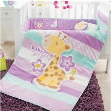 LITTLE GIRAFFE BABY GIRLS CRIB BEDDING SET NURSERY 6 PCS FOR BABY SHOWER GIFT