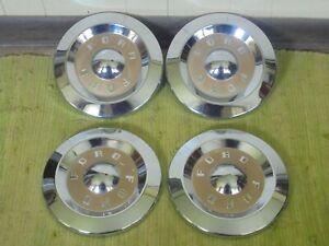 "57 58 59 Ford Dog Dish HUB CAPS 10 1/2"" Set of 4 Hubcaps Gold 1957 1958 1959"