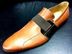 Chelsy pelle scarpe uomo mocassino Designer Pantofola fatto mano chiaro marrone