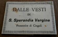 Santino RELIQUIA '' Santa Sperandia Vergine '' HOLY CARD RELIKWIA SWIETEGO RELIC