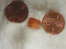 Hessonite Orange Garnet 3.87 Carats 8x10 MM. Octagon 8.10x10.23x4.71 Silky