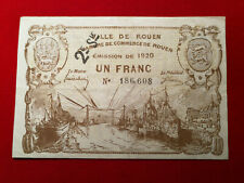 Billet 1 Fr VILLE DU ROUEN Chambre de Commerce Serie 2 FA 1920 !!