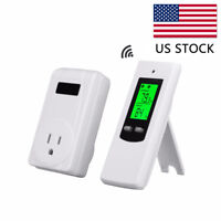 Wireless Thermostat with Remote Control LCD Display Heating Cooling Mode