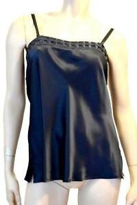 Marjolaine Camisole 100% Silk Size L / FR42/EU40/US10/UK14 Black ' Soie Unie