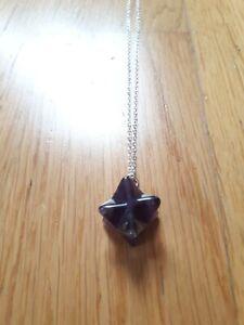 Amethyst Merkaba Star Pendant Sacred Geometry Necklace Gift 925 silver stone