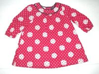INFANT GIRLS BABY GAP RED & BLACK CIRCLE POLKA DOT DRESS SIZE 6-12 MONTHS
